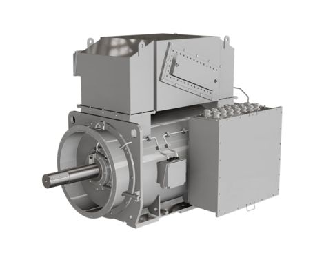 Compact synchronous marine generator